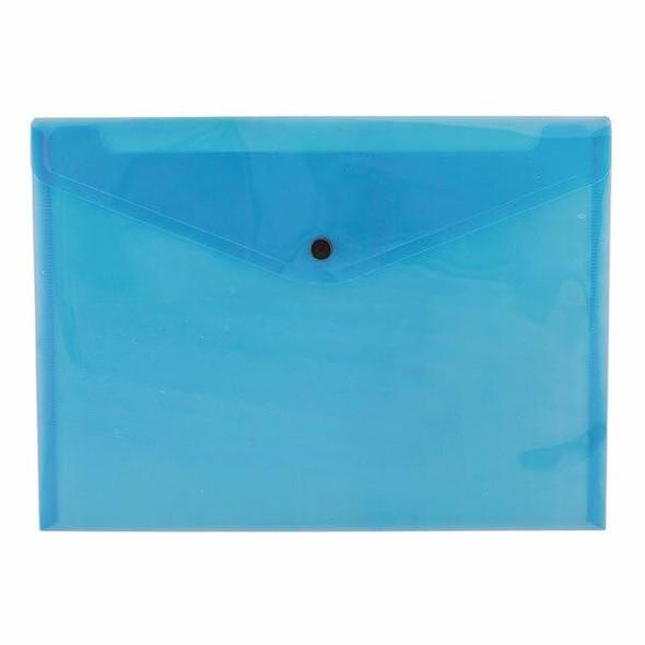 CUMBERLAND Document Wallet A4 Transparent Blue Pack12 141377