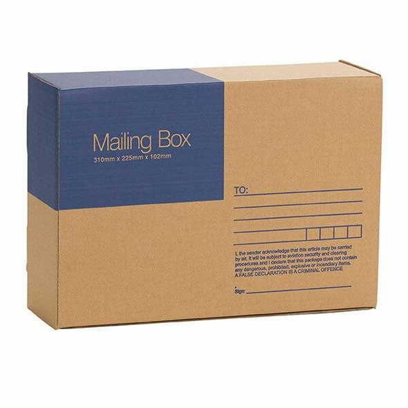 CUMBERLAND Mailing Box 310 X 225 102mm Pack25 7120