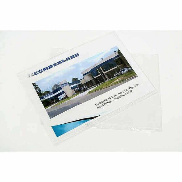 CUMBERLAND Sheet Protectors 125 Micronron A3 Clear SP6165