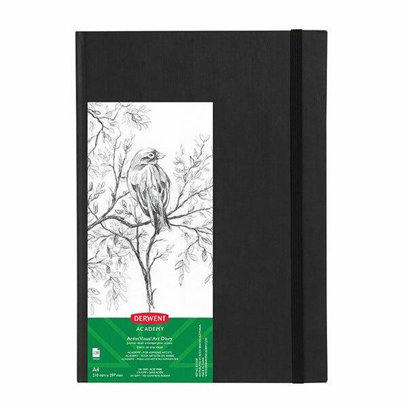 DERWENT Academy Casebound Visual Art Diary A4 Portrait 128 Pages X CARTON of 5 R31305F