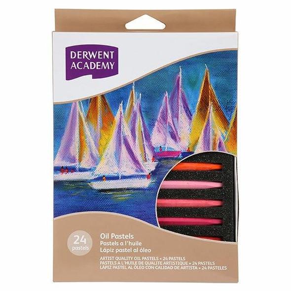 DERWENT Academy Oil Pastel 24Pack X CARTON of 6 R32905