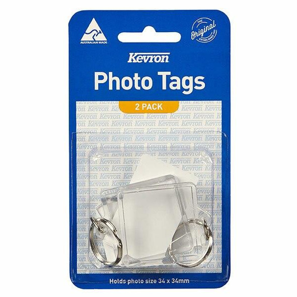 Kevron ID57 Photo Tags Square Pack 2 47456