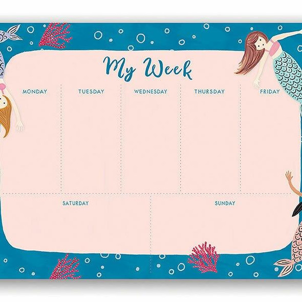 Orange Circle Undated Weekly Desk Pad Mermaid Tales UWP01