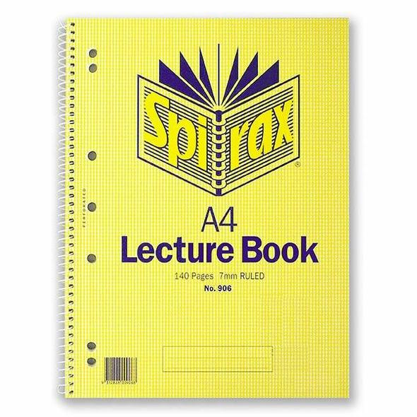 Spirax 906 Lecture Book Srt S/O PA56906SRT