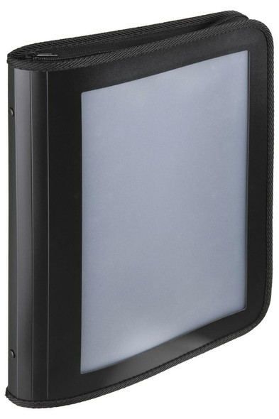 Marbig Professional Zipper Binder W/ Insert Cvr 25mm 2d Black X CARTON of 10 6990002