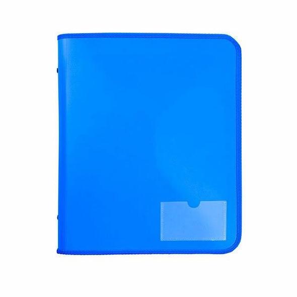 Marbig Zipper Binder W/ Tech Case 25mm 2d Blue X CARTON of 10 6980001