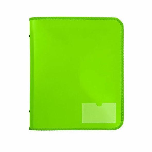 Marbig Zipper Binder W/ Tech Case 25mm 2d Lime X CARTON of 10 6980004