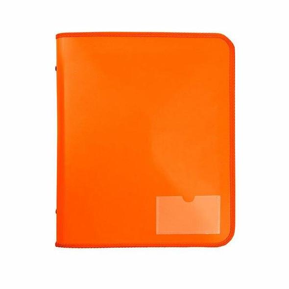 Marbig Zipper Binder W/ Tech Case 25mm 2d Orange X CARTON of 10 6980006