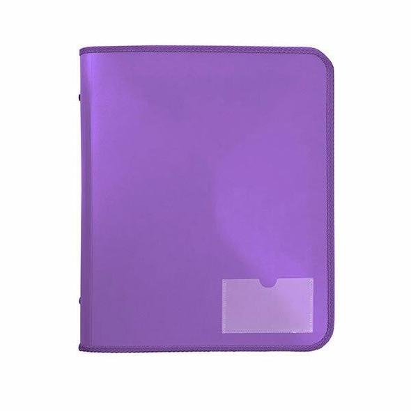 Marbig Zipper Binder W/ Tech Case 25mm 2d Purple X CARTON of 10 6980019