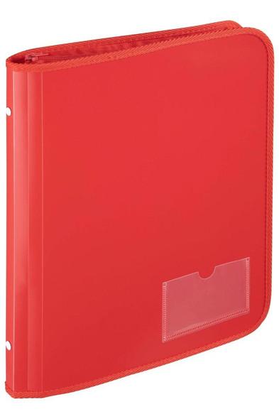 Marbig Zipper Binder W/ Tech Case 25mm 2d Red X CARTON of 10 6980003