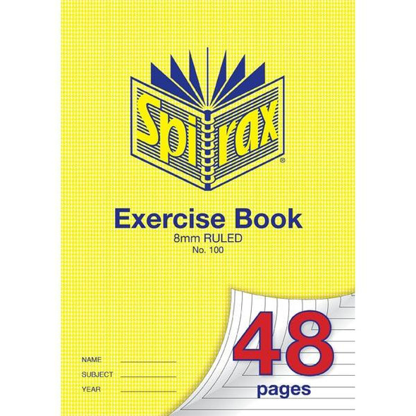 Spirax 100 Exercise Book 48 Page A4 8mm Ruled X CARTON of 20 56100