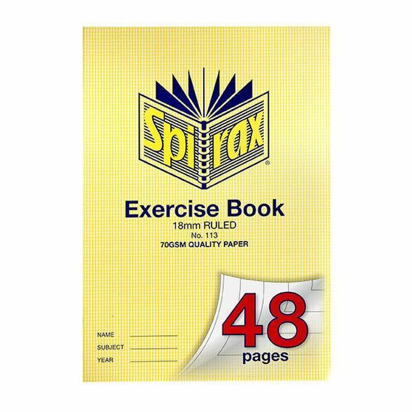 Spirax 113 Exercise Book A4 48 Page 18mm X CARTON of 20 56113