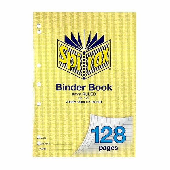 Spirax 127 Binder Book A4 128 Page X CARTON of 10 56127