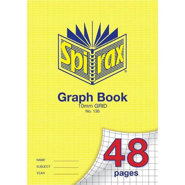 Spirax 130 Graph Book 48 Page A4 10mm Grid X CARTON of 20 56130