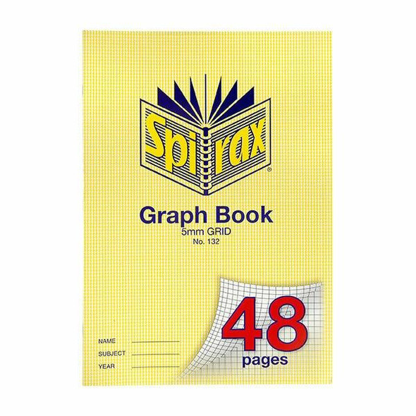 Spirax 132 Graph Book A4 48 Page 5mm Grid X CARTON of 20 56132