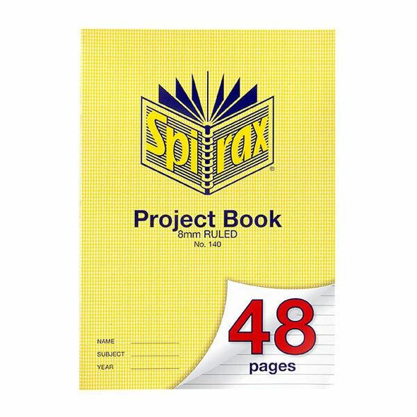 Spirax 140 Project Book A4 48 Page 8mm X CARTON of 20 56140
