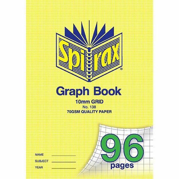 Spirax 138 A4 Graph Book 10mm 96page X CARTON of 10 56138