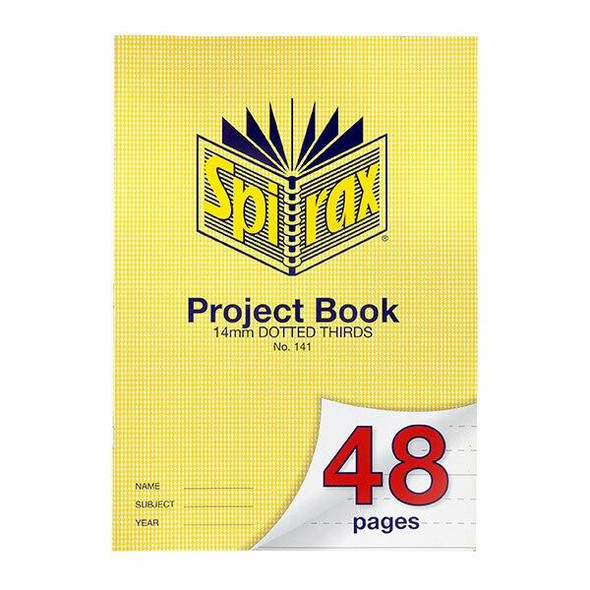 Spirax 141 Project Book A4 48 Page 14mm Dotted Thirds X CARTON of 20 56141