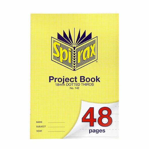 Spirax 142 Project Book A4 48 Page 18mm Dotted Thirds X CARTON of 20 56142