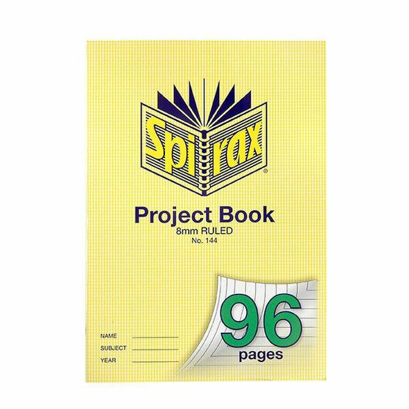 Spirax 144 Project Book A4 96 Page 8mm X CARTON of 10 56144