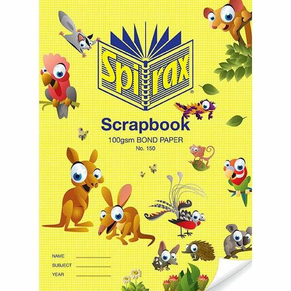 Spirax 150 Scrapbook 64page 335x245mm 100gsm X CARTON of 10 56150P