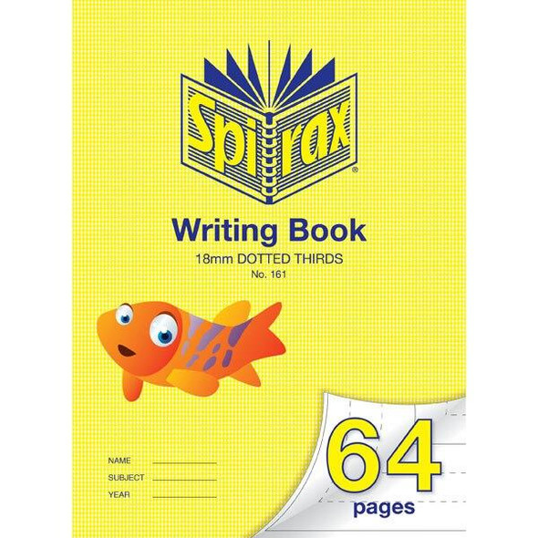 Spirax 161 Writing Book 64 Page 335x240mm 18mm Dotted X CARTON of 10 56161