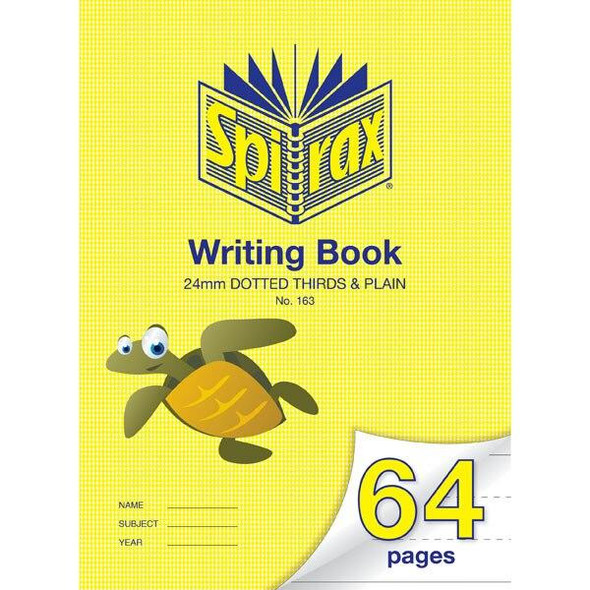 Spirax 163 Writing Book 64 Page 335x240mm 24mm Project X CARTON of 10 56163