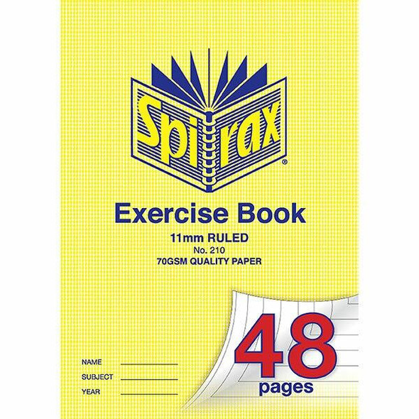 Spirax 210 Exercise Book A4 11mm 48page X CARTON of 20 56210