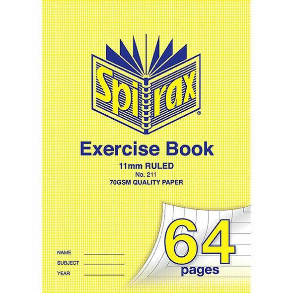 Spirax 211 Exercise Book A4 11mm 64page X CARTON of 20 56211