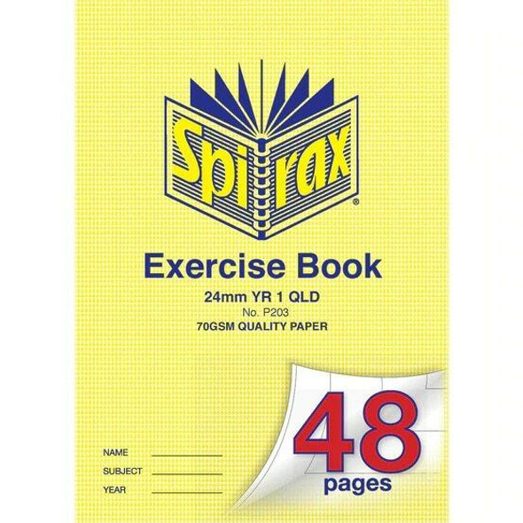 Spirax Exercise Book Qld Ruling Y1 24mm 48page X CARTON of 20 56203C