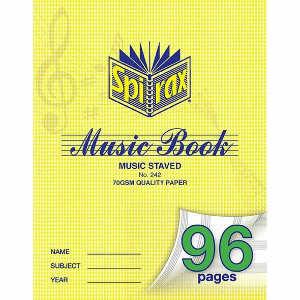 Spirax 242 Music Book 225x175 96page X CARTON of 10 55242