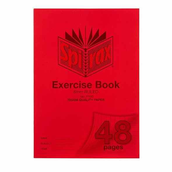 Spirax P100 Exercise Book A4 8mm 48page X CARTON of 20 56100P