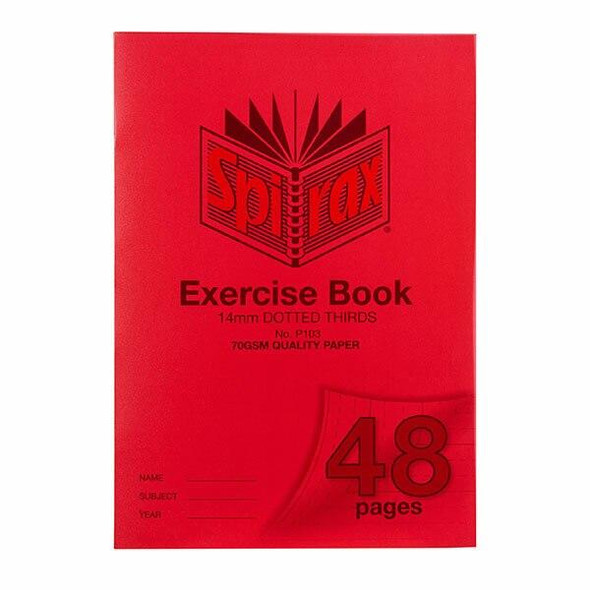 Spirax P103 Exercise Book A4 14mm Dt 48page X CARTON of 20 56103P