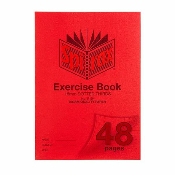 Spirax P104 Exercise Book A4 18mm Dt 48page X CARTON of 20 56104P