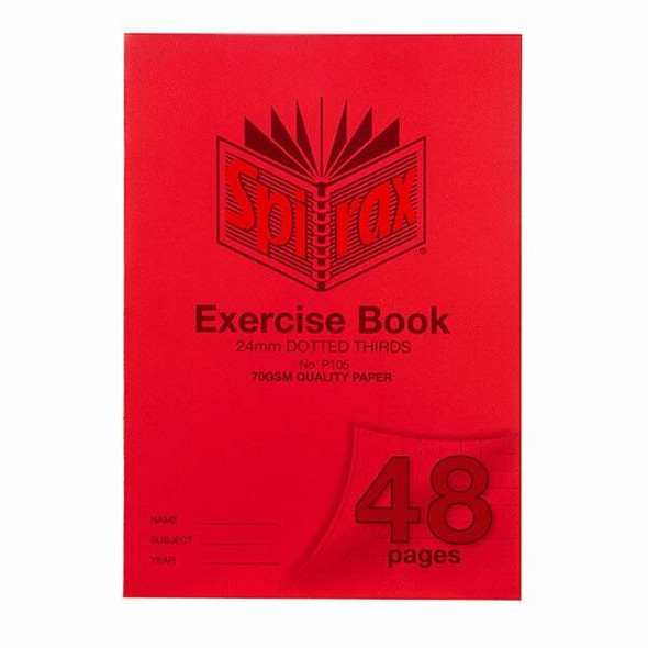 Spirax P105 Exercise Book A4 24mm Dt 48page X CARTON of 20 56105P