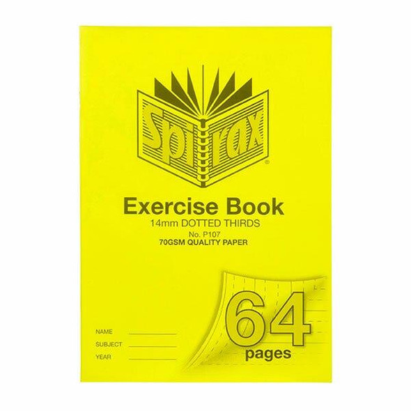 Spirax P107 Exercise Book A4 14mm Dt 64page X CARTON of 10 56107P