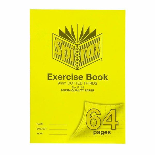 Spirax P115 Exercise Book A4 9mm Dt 64page X CARTON of 10 56115P