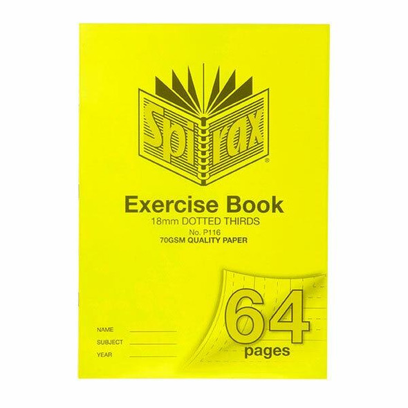 Spirax P116 Exercise Book A4 18mm Dt 64page X CARTON of 10 56116P