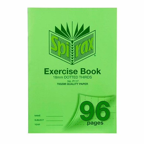 Spirax P117 Exercise Book A4 18mm Dt 96page X CARTON of 10 56117P