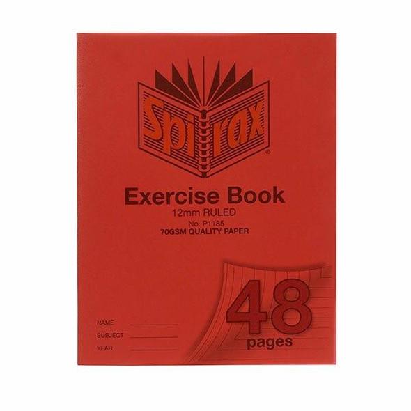 Spirax P118a Exercise Book A5 12mm 48page X CARTON of 20 56118P5