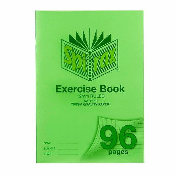 Spirax P119 Exercise Book A4 12mm 96page X CARTON of 10 56119P