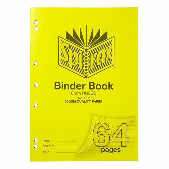 Spirax P120 Binder Book A4 8mm 64page X CARTON of 10 56120P