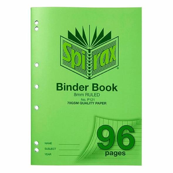 Spirax P121 Binder Book A4 8mm 96page X CARTON of 10 56121P
