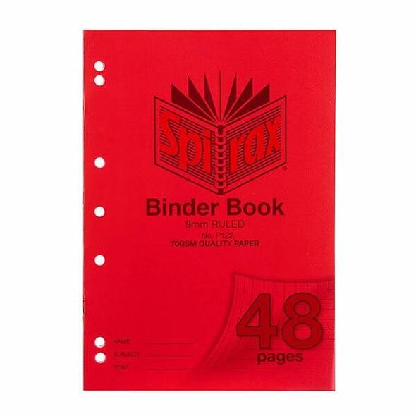 Spirax P122 Binder Book A4 8mm 48page X CARTON of 20 56122P