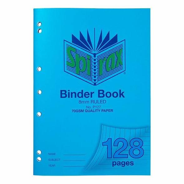 Spirax P127 Binder Book A4 8mm 128page X CARTON of 10 56127P