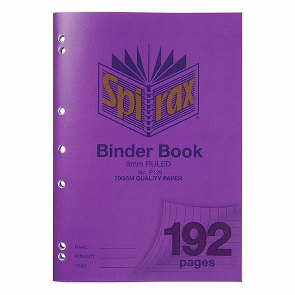Spirax P128 Binder Book A4 8mm 192page X CARTON of 5 56128P