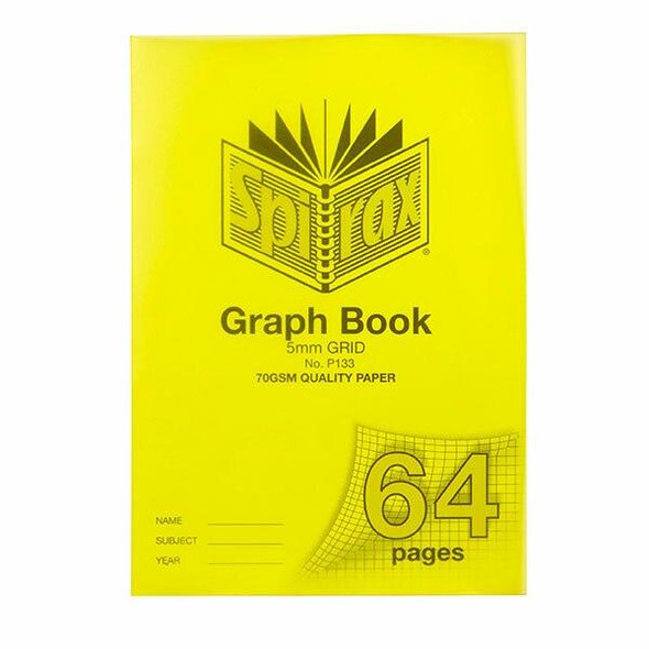 Spirax P133 Grid Book A4 5mm 64page X CARTON of 10 56133P