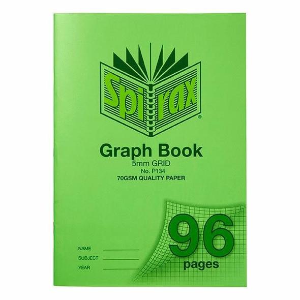 Spirax P134 Grid Book A4 5mm 96page X CARTON of 10 56134P