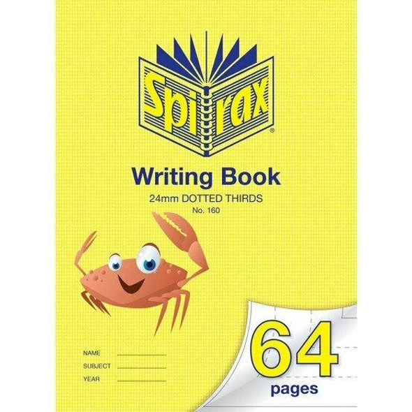 Spirax P160 Writing Book 64 Page 335x240mm 24mm Dotted X CARTON of 10 56160P