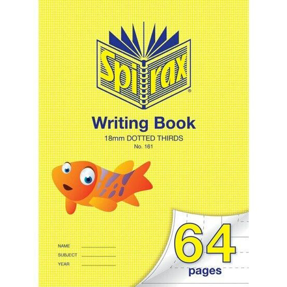 Spirax P161 Writing Book 64 Page 335x240mm 18mm Dotted X CARTON of 10 56161P